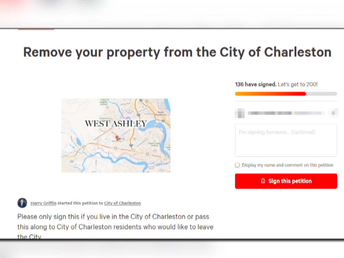 City councilman creates petition to secede from City of Charleston