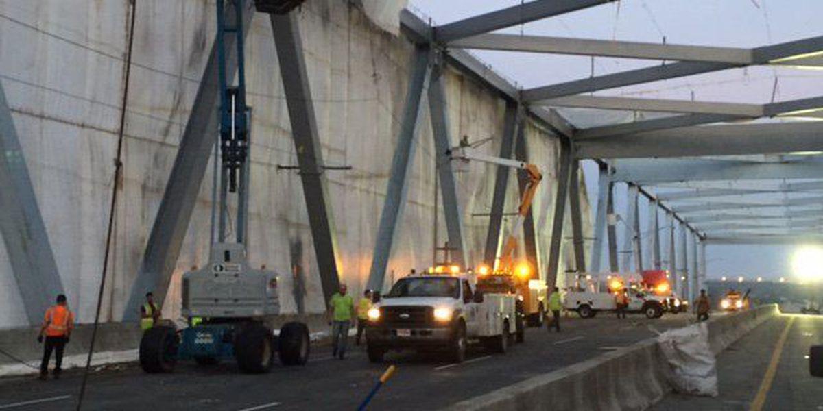 SCDOT investigating Don Holt Bridge netting collapse