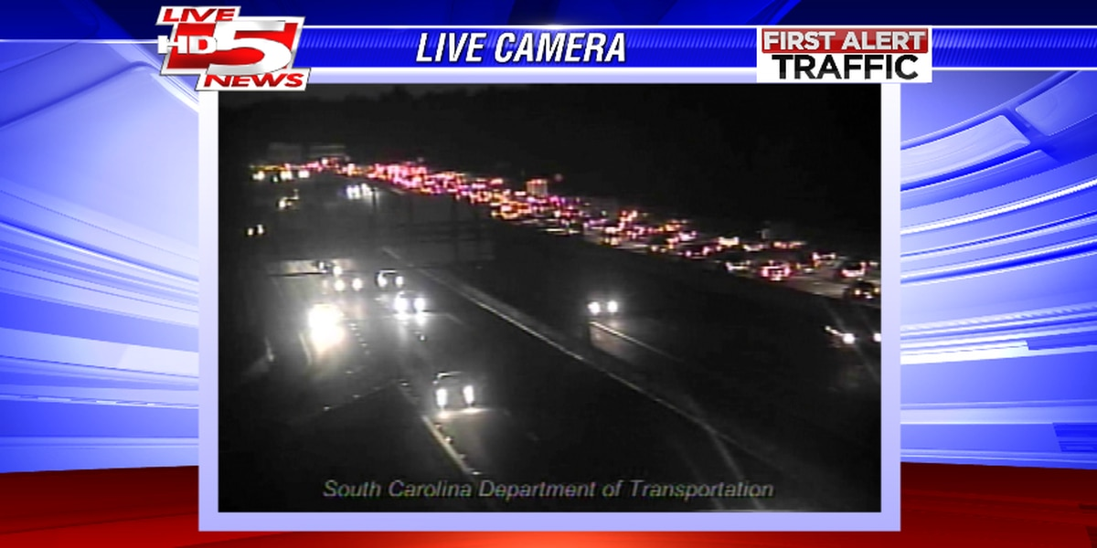 Traffic moving on I-26 after eastbound accident near Ashley Phosphate exit