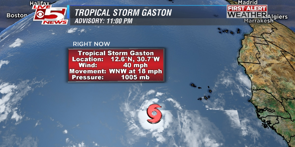 Tropical Storm Gaston forms, forecasters watching second system