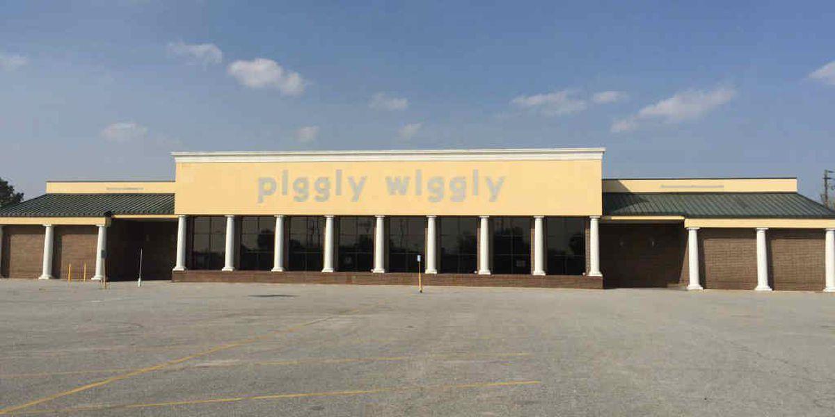 Demolition process begins at old W. Ashley Piggly Wiggly