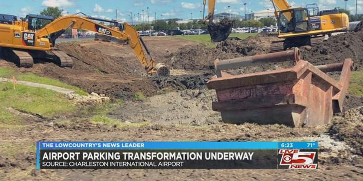 VIDEO: Parking expansion project begins at Charleston International Airport