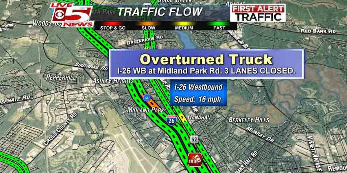Accident cleared on I-26 near Midland Park Road, but traffic still heavy