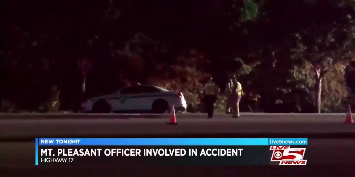VIDEO: Mount Pleasant Police car involved in accident Saturday night