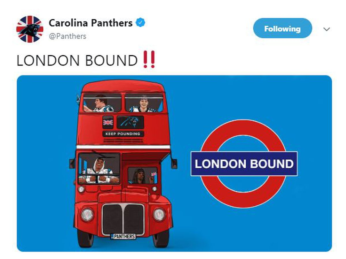 Panthers to play 2019 game against Buccaneers in London