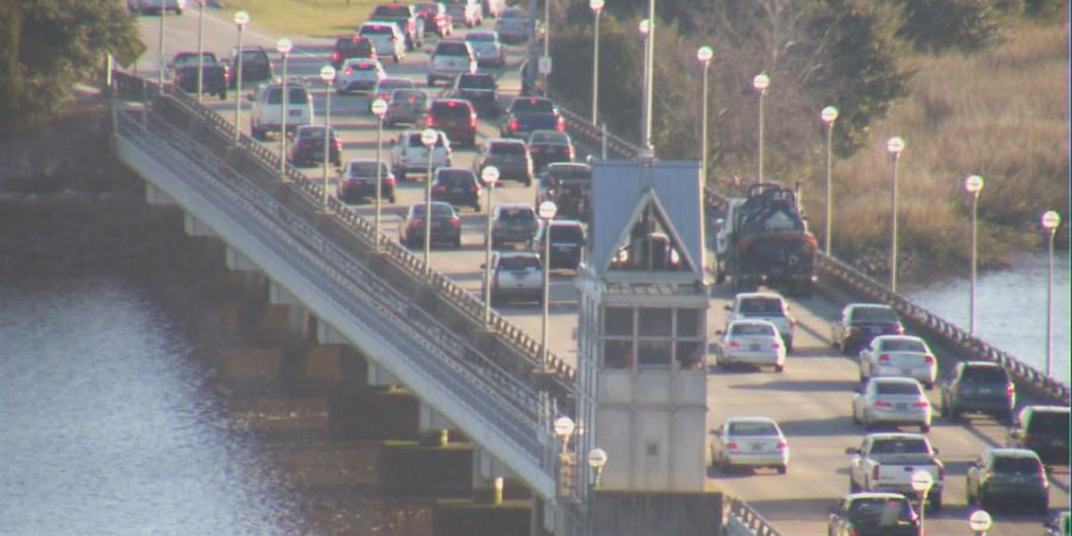 Ashley River Bridge lanes into downtown Charleston reopened