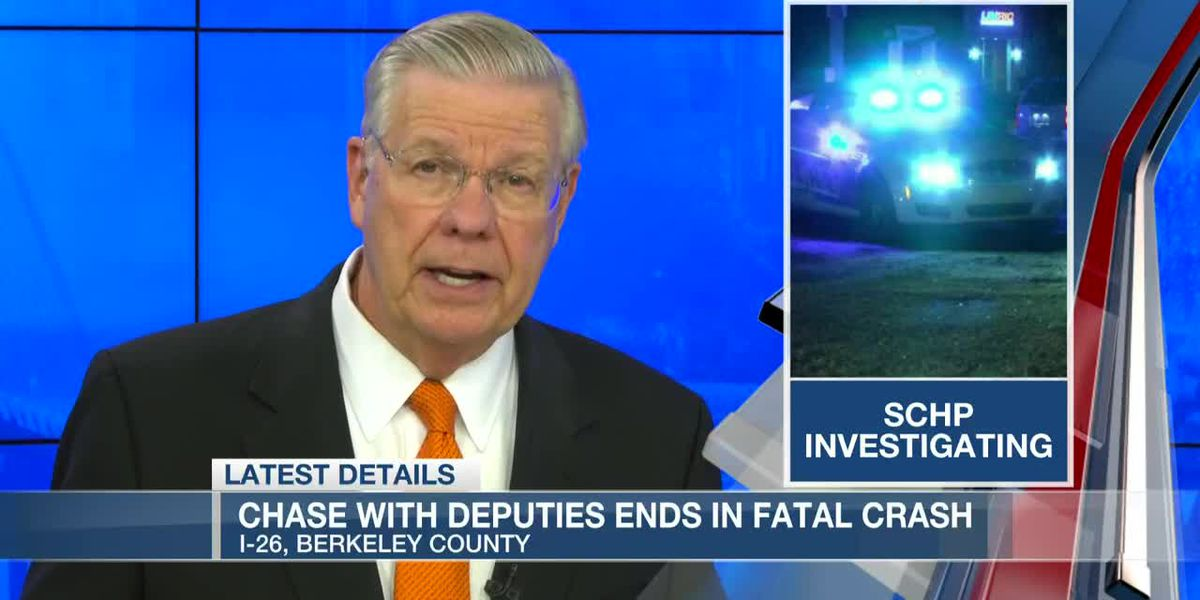 VIDEO: Troopers: Chase with Berkeley Co. deputies ends in fatal crash on I-26