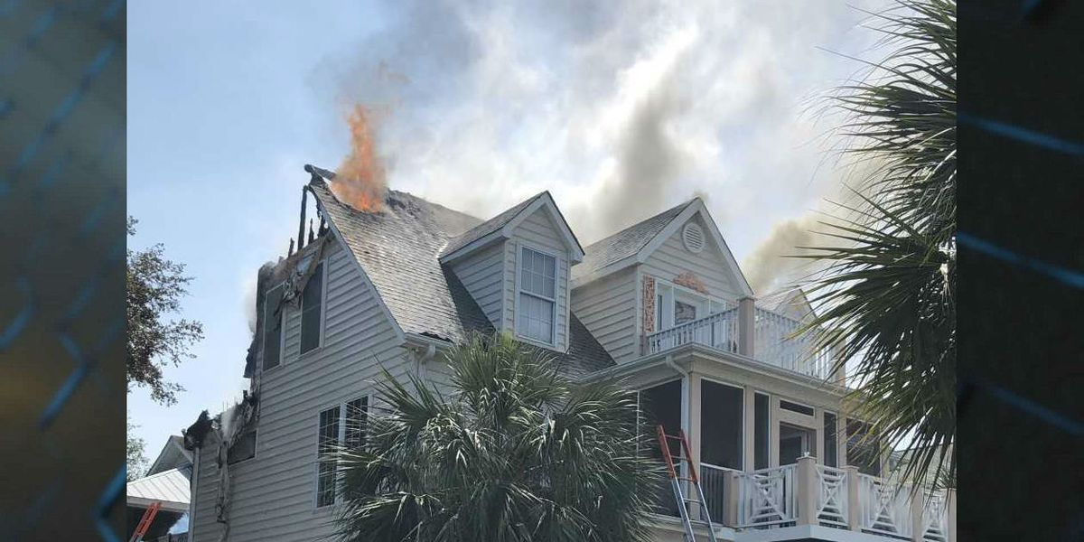 2 dogs rescued, 1 dog missing after three-alarm Pawleys Island house fire