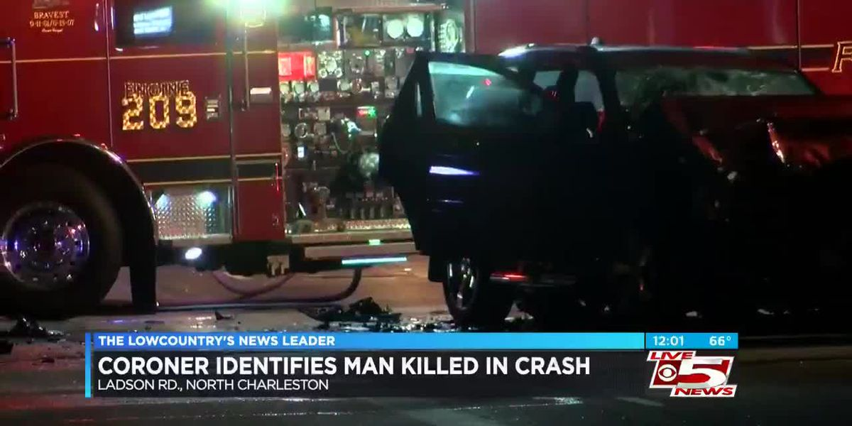 VIDEO: Coroner identifies man killed in N. Charleston crash