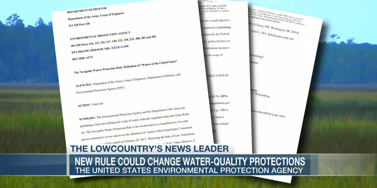 VIDEO: As new EPA rule redefines protected waterways, some fear Lowcountry impacts