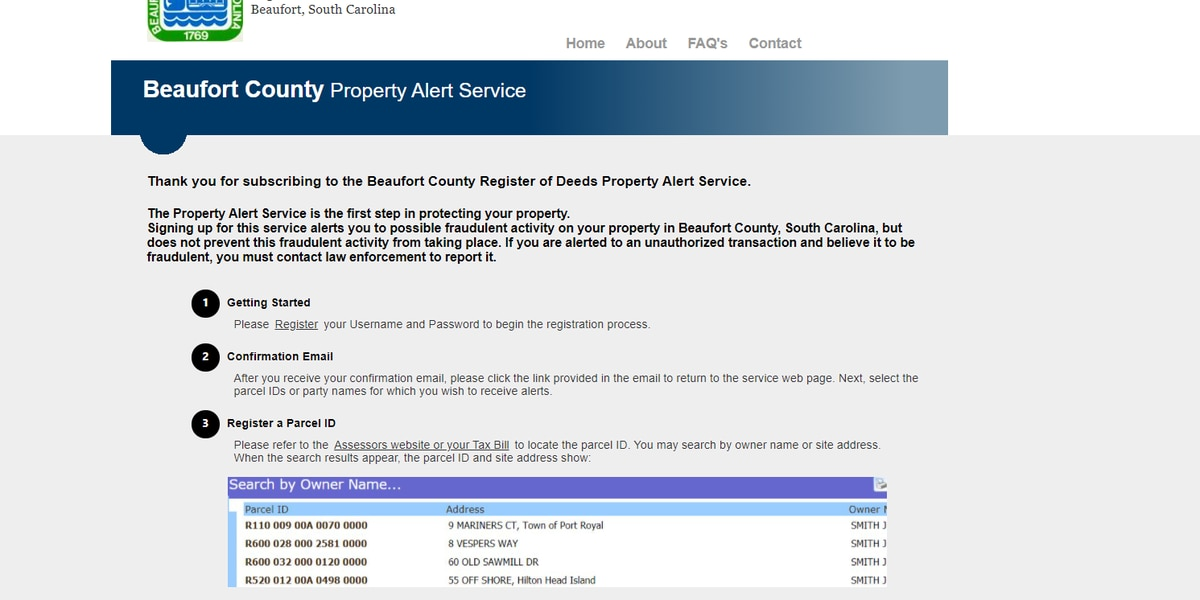 New service can alert Beaufort Co. property owners of fraudulent document filings