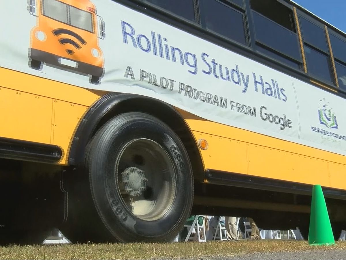 Berkeley County students can access free internet from school bus 'hot spots'