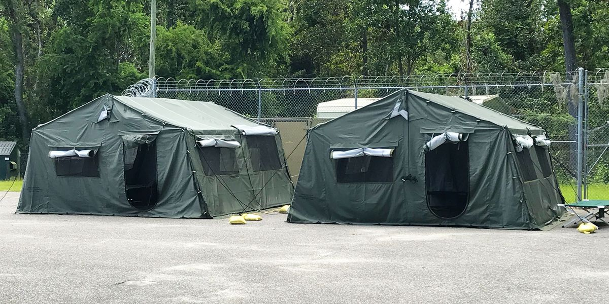 Some newly arrested inmates being housed in tents outside jail to prevent spread of COVID-19