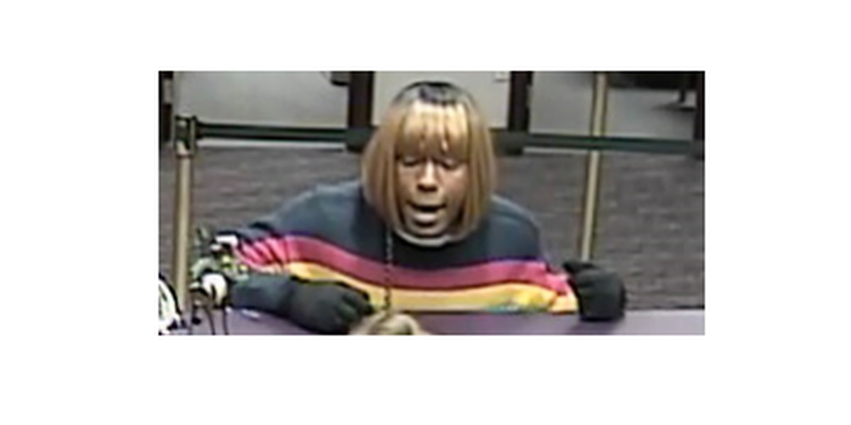 VIDEO: Thief wearing blonde wig still on the run after robbing N.C. bank