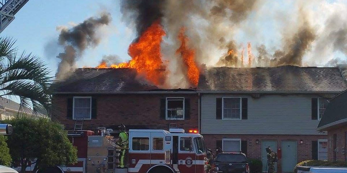 NCFD: 20 people displaced by apartment fire, firefighter injured
