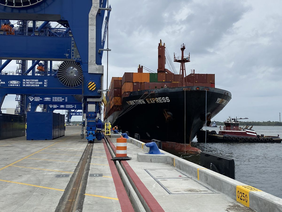First ship comes to call at Hugh Leatherman Terminal in North Charleston