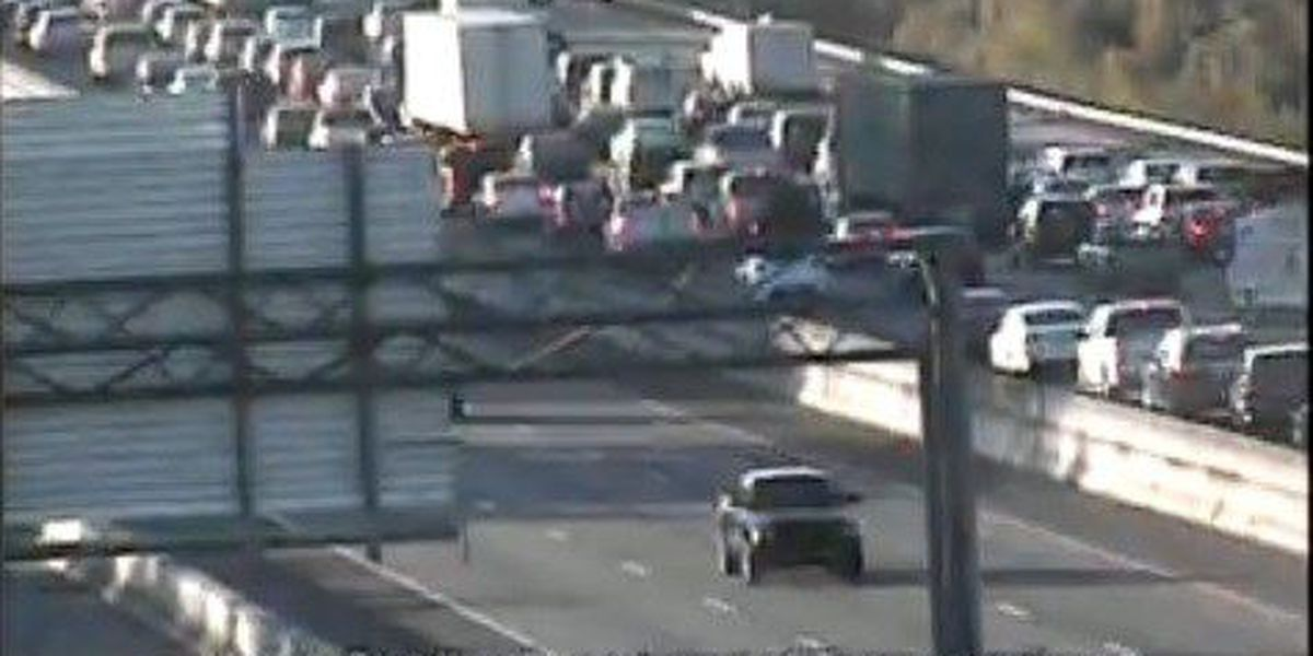 I-26 moving after accident closes left lane near Exit 211