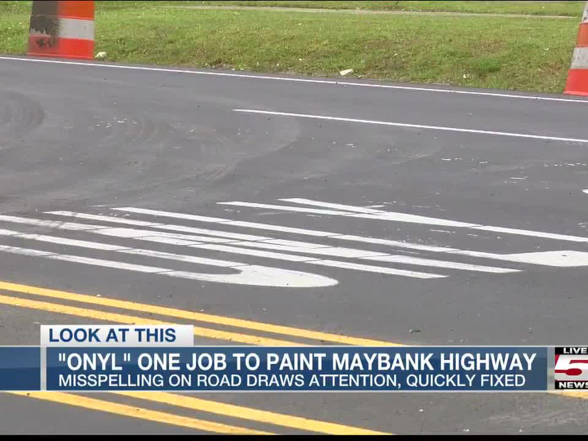 You had 'Onyl' one job! Contractor paints misspelled word on Johns Island road