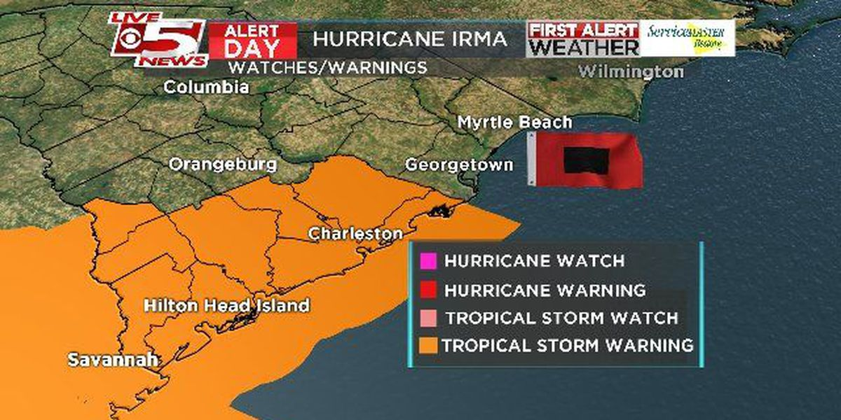 Tropical Storm Warning issued for Tri-County; storm surge warnings issued for majority of coastline
