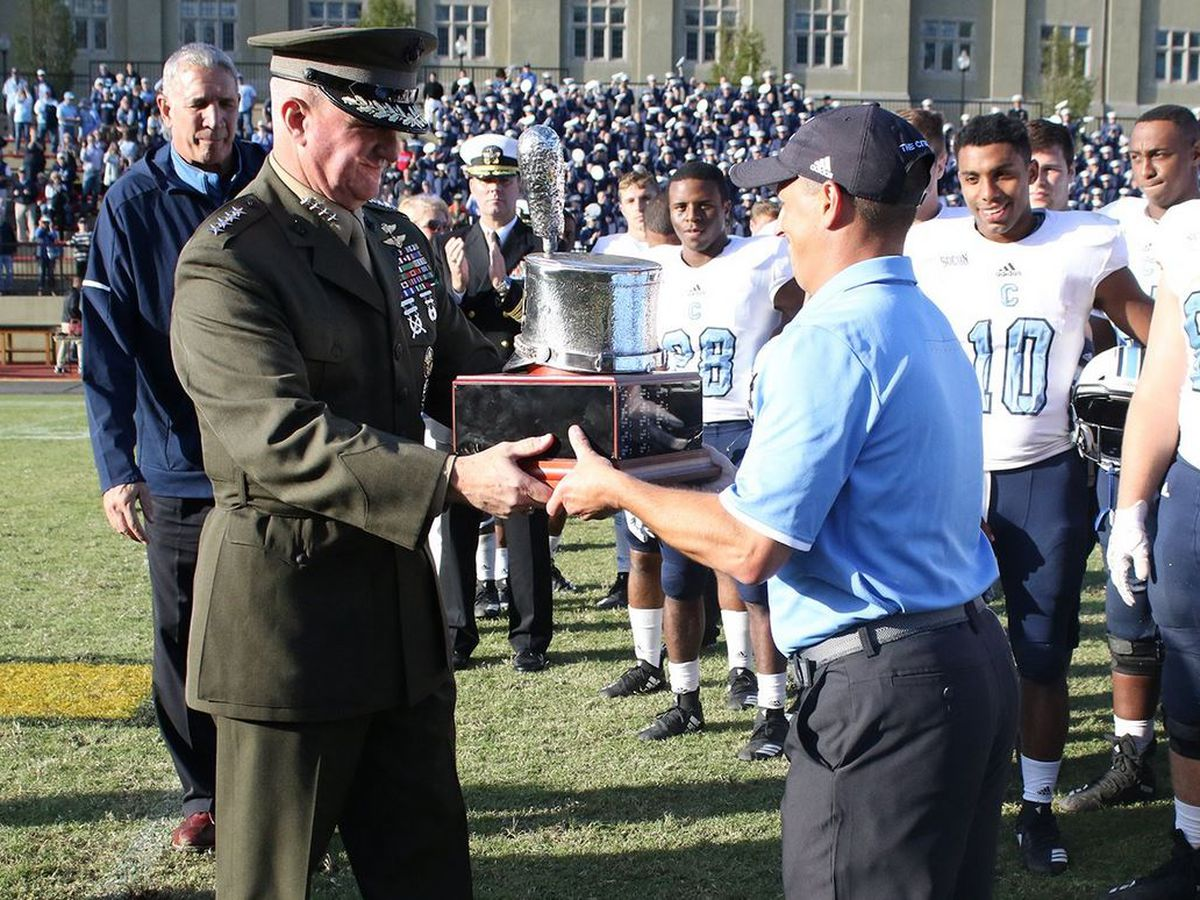 The Citadel holds on to lead, Silver Shako with 34-32 victory