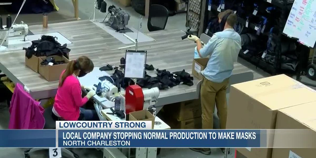 VIDEO: Lowcountry Strong: Company stops normal production to make masks