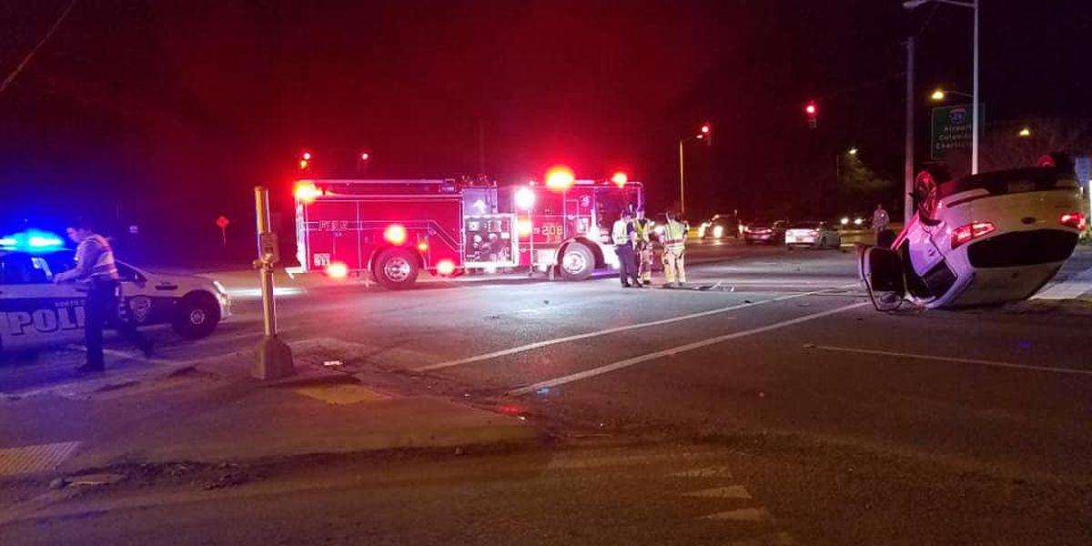 Emergency crews working multi-vehicle accident with injuries in N. Charleston