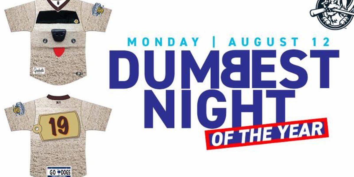 "RiverDogs to Host ""Dumbest Night of the Year"" on August 12"