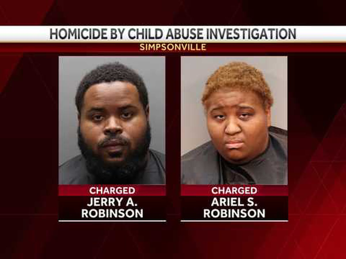 S.C. couple charged with homicide by child abuse, SLED says