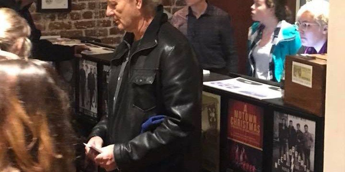 Bill Murray buys tickets for concertgoers at Charleston Music Hall