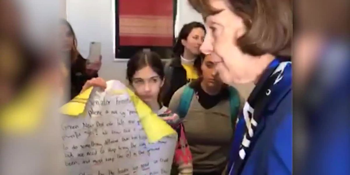 'I've been doing this for 30 years': Sen. Feinstein clashes with young activists on Green New Deal