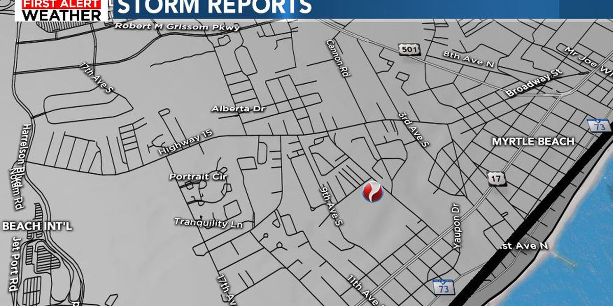 NWS confirms EF-0 tornado in Myrtle Beach Sunday morning