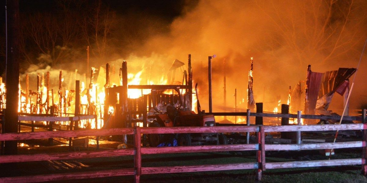 Horse dies in Colleton Co. barn fire officials suspect was storm-related