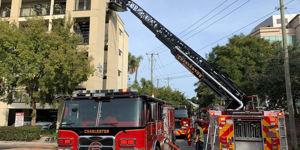 Fire under control at downtown Charleston apartment