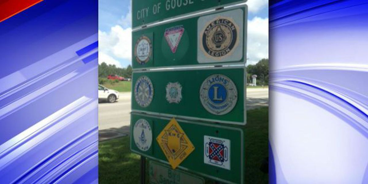 Confederate, NAACP logo both welcome on Goose Creek sign