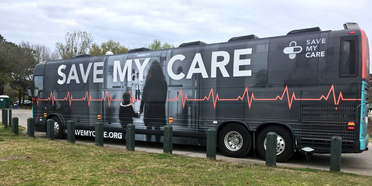 'Save My Care' bus tour stops in Charleston