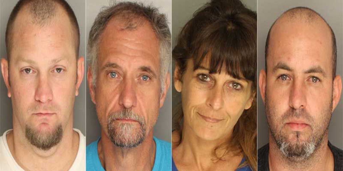 Four arrested after meth lab discovered at Moncks Corner home