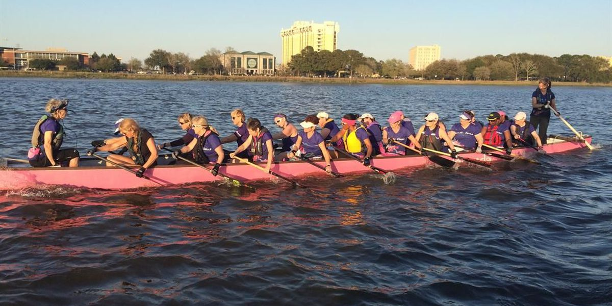 Dragon boat racers support cancer survivors at annual festival
