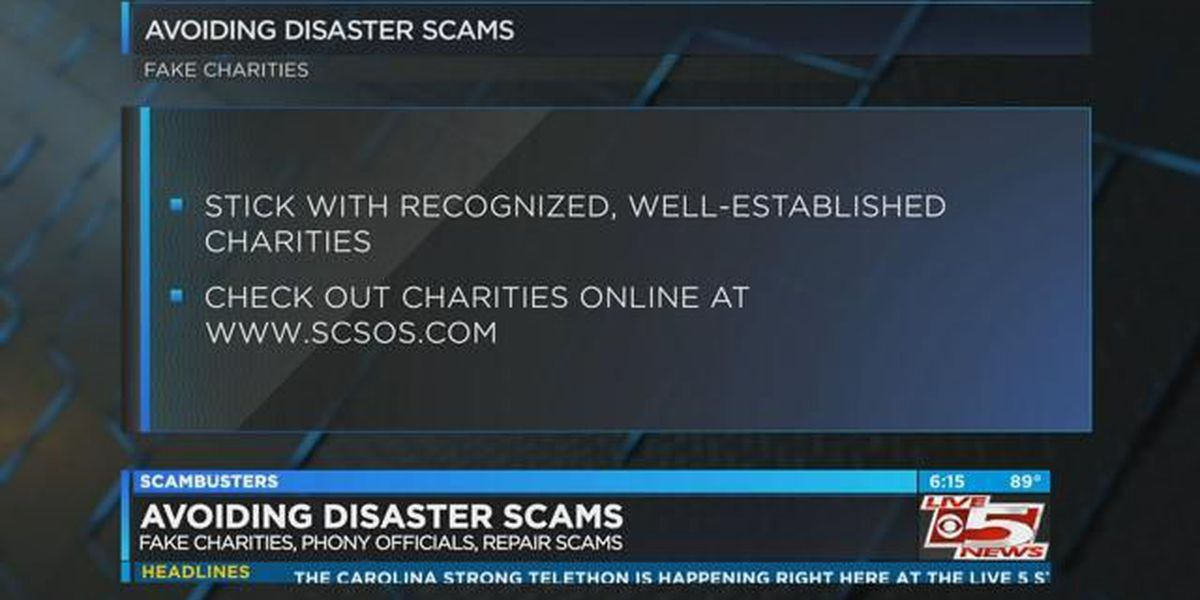 Live 5 Scambusters: Avoiding disasters scams after Florence