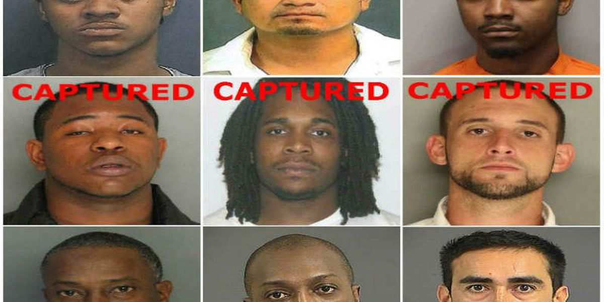 Live 5 Most Wanted Manhunt: 8 Captured, 1 Wanted