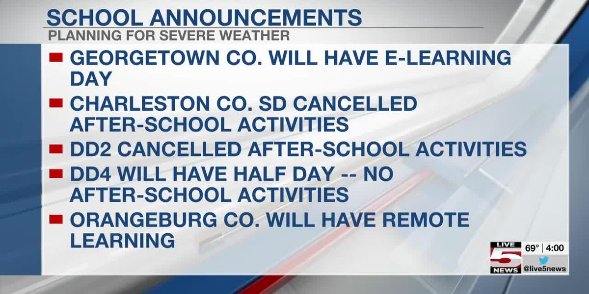 VIDEO: School districts announce schedule changes ahead of Thursday's severe weather threat
