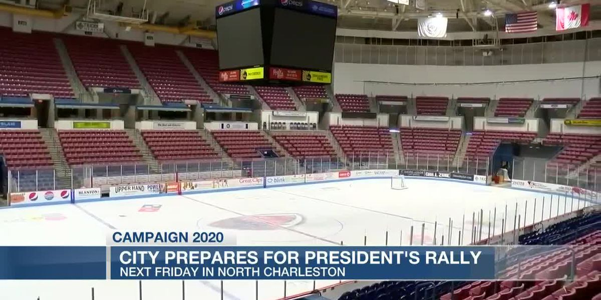 VIDEO: Preparations underway for Trump rally in North Charleston amid other large events