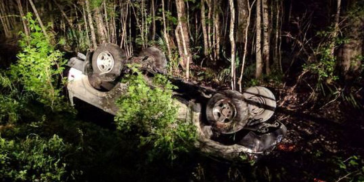 Teens walk away from rollover crash with minor injuries