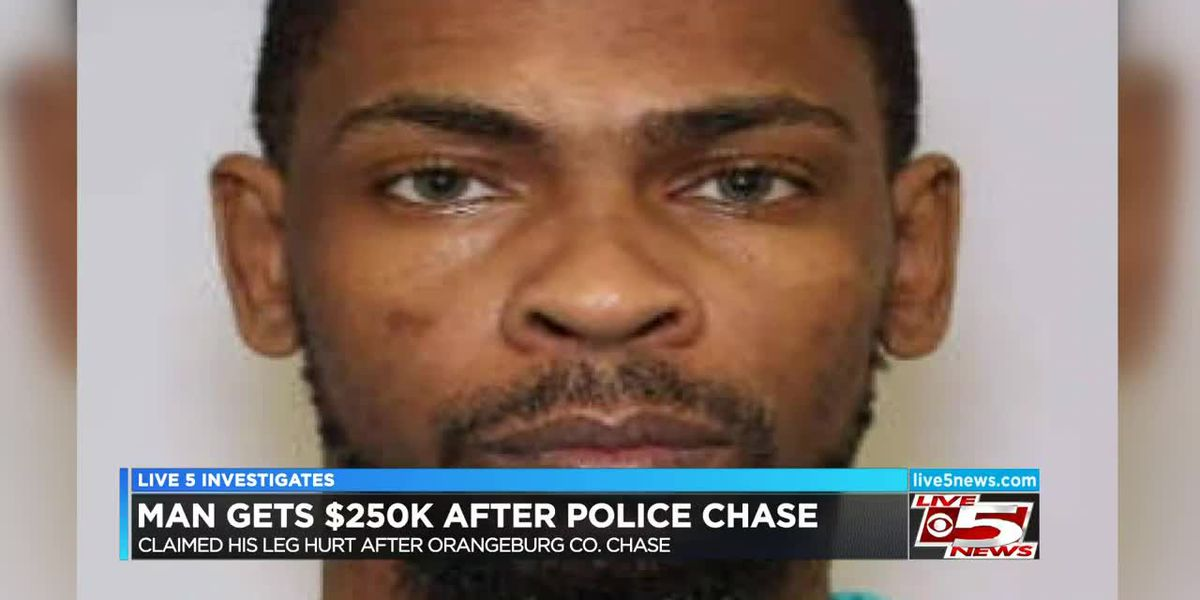 VIDEO: Orangeburg man paid $205k after leading deputies on a chase, complained of leg hurting