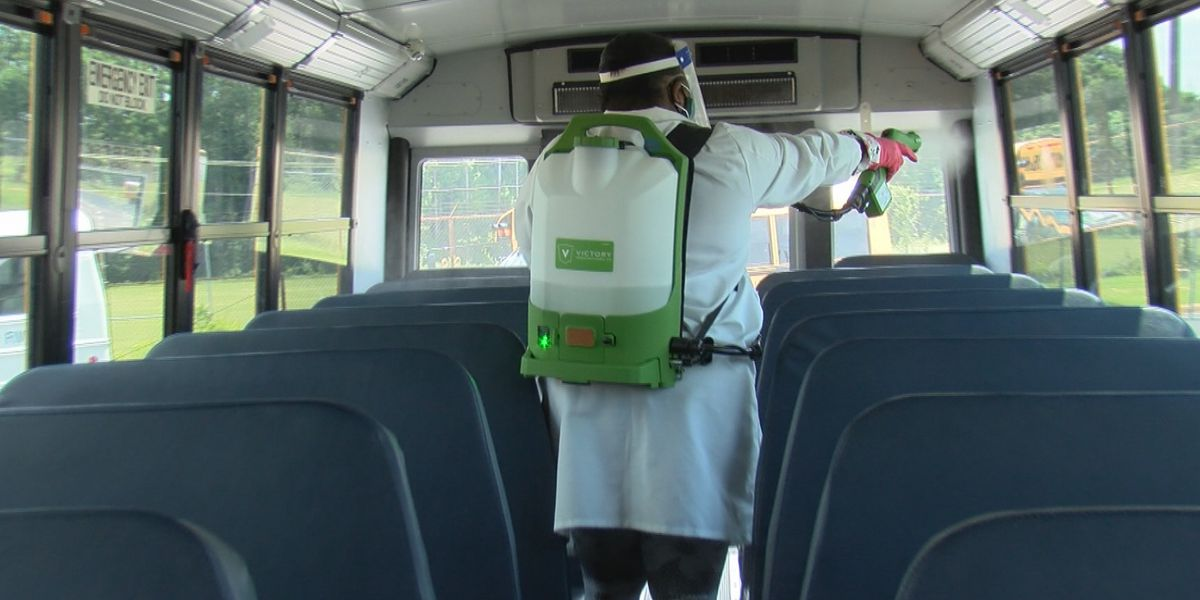 New cleaning procedures, safety measures in place on school buses