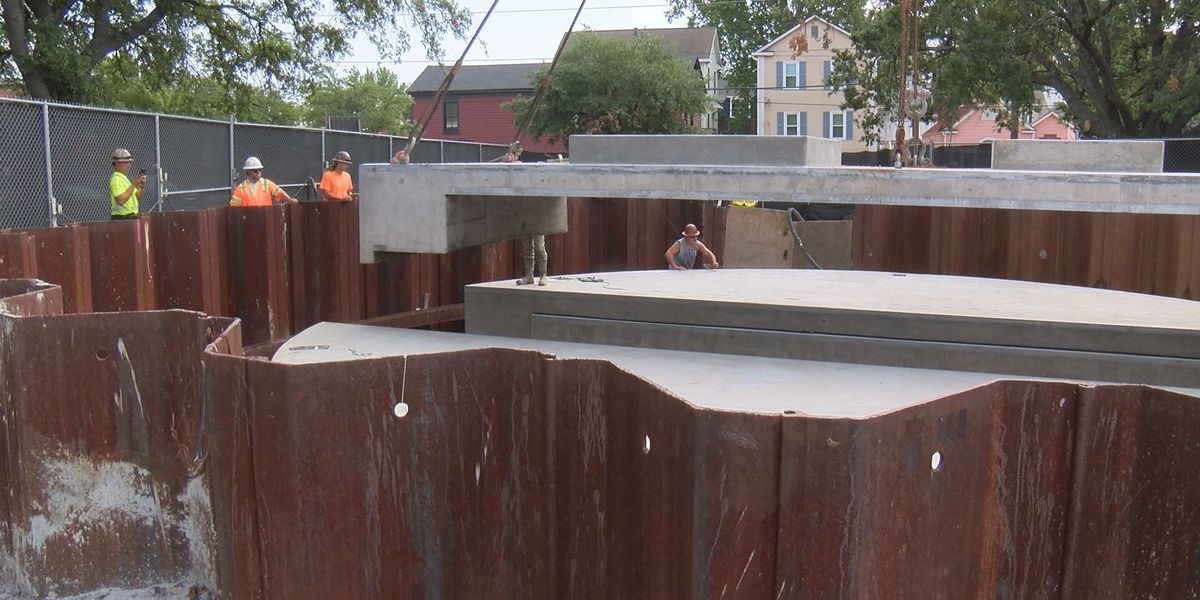 Downtown drainage project is one step closer to completion, flooding relief