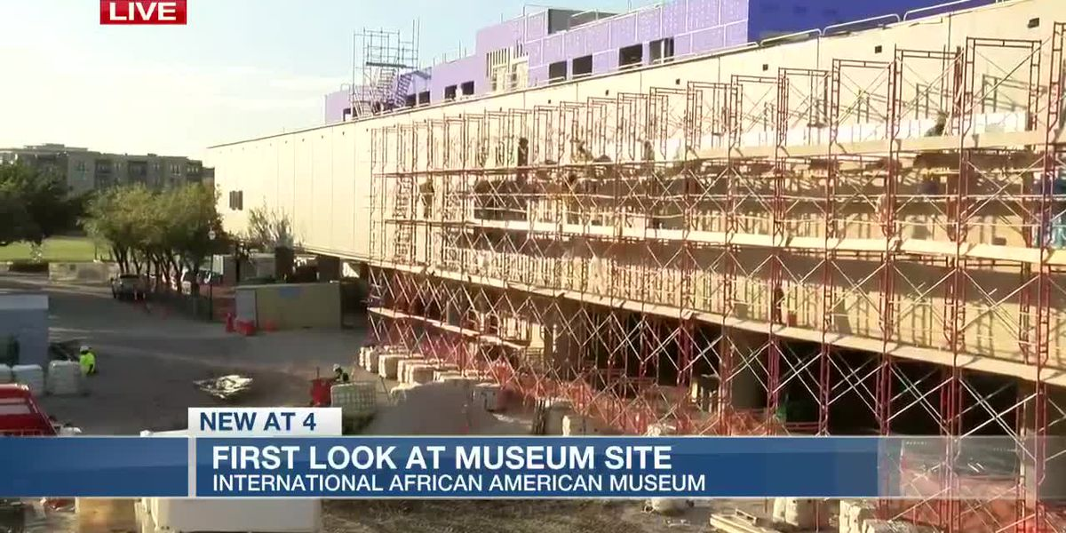 VIDEO: Museum officials give hard-hat tour of International African American Museum site