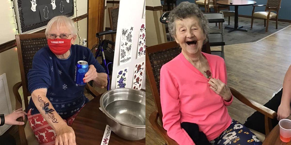 Nursing home keeps spirits high during pandemic with 'Booze N' Tattoos'