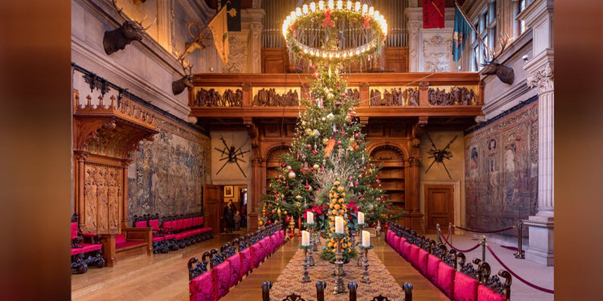 Christmas begins at Biltmore with delivery of 34-foot tree