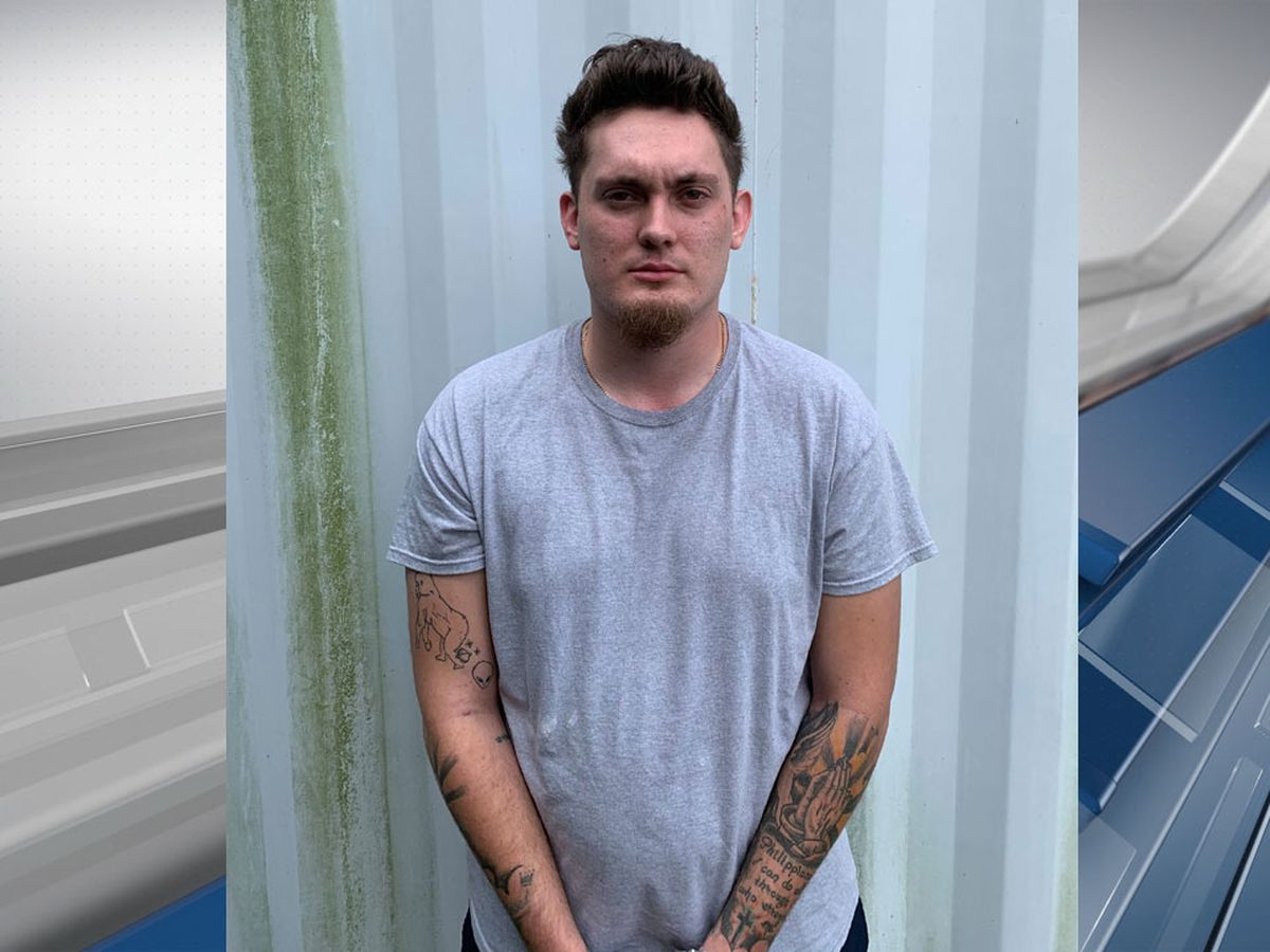 20-year-old man arrested after destroying fence during protest