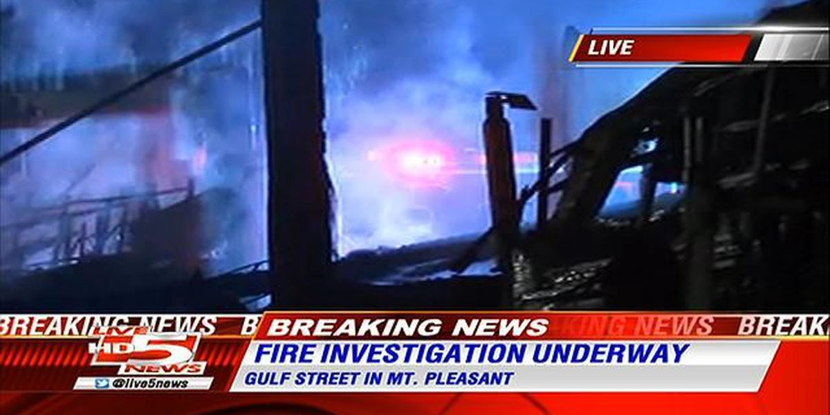 Emergency crews respond to structure fire in Mount Pleasant